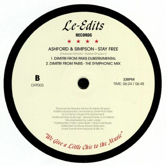 Ashford & Simpson – Stay Free (Dimitri From Paris Remixes)